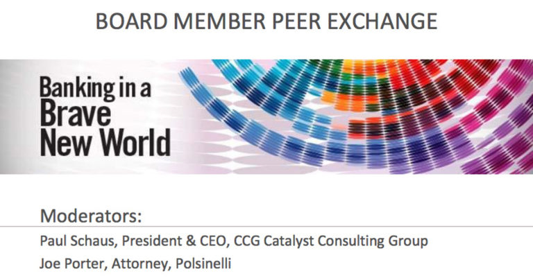 Banking in a Brave New World - Board Member Peer Exchange