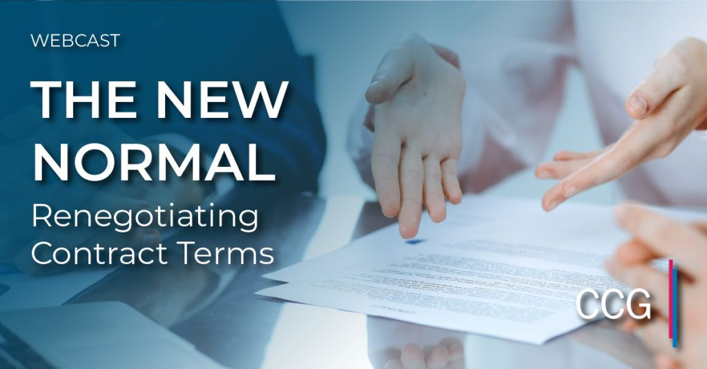 The New Normal: Renegotiating Contract Terms